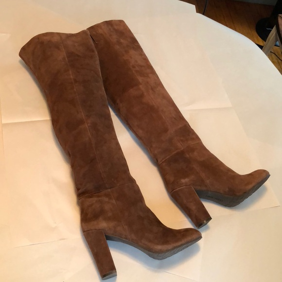 3c3463f2c Nine West Cognac Suede Over The Knee Boots. M_5ae0e7678df4708b891e7fcc